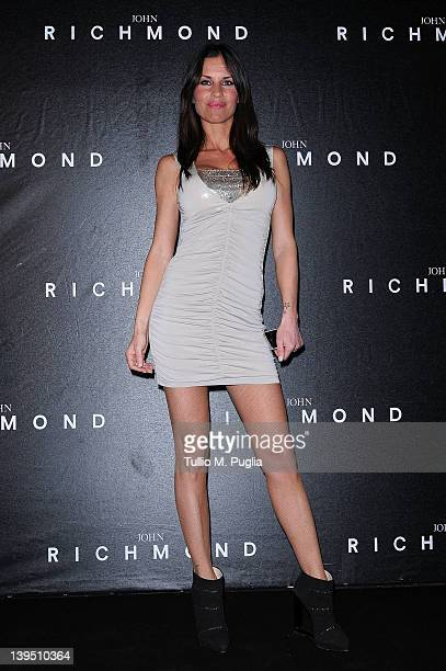 Antonella Mosetti attends the John Richmond Autumn/Winter 2012/2013 fashion show as part of Milan Womenswear Fashion Week on February 22 2012 in...