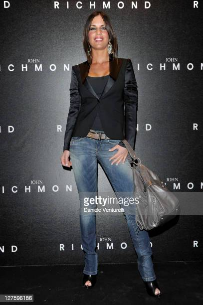 Antonella Mosetti attends the John Richmond Fashion Show as part of Milan Fashion Week Womenswear Autumn/Winter 2011 on February 23 2011 in Milan...