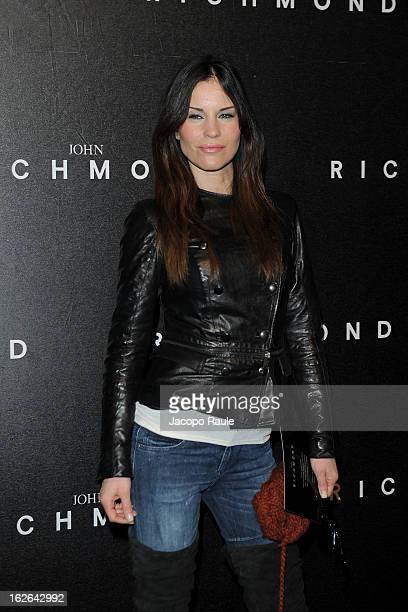 Antonella Mosetti attends the John Richmond fashion show as part of Milan Fashion Week Womenswear Fall/Winter 2013/14 on February 25 2014 in Milan...