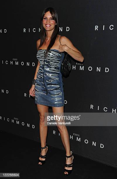 Antonella Mosetti attends the John Richmond Milan Menswear Spring/Summer 2011 show on June 21 2010 in Milan Italy