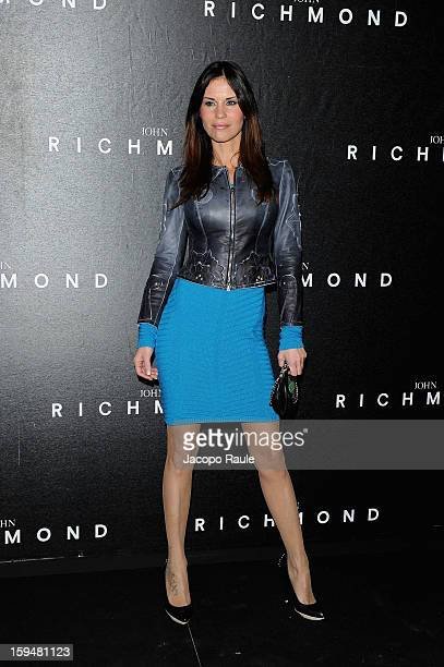Antonella Mosetti attends the John Richmond show as part of Milan Fashion Week Menswear Autumn/Winter 2013 on January 14 2013 in Milan Italy