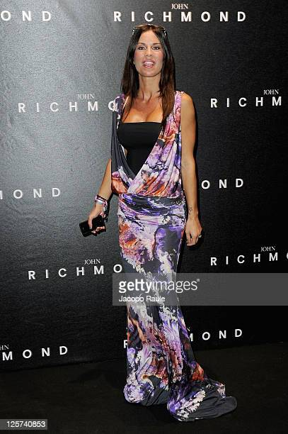 Antonella Mosetti attends the John Richmond Spring/Summer 2012 fashion show as part of Milan Womenswear Fashion Week on September 21 2011 in Milan...