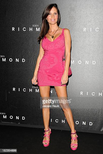 Antonella Mosetti attends the John Richmond Spring/Summer 2013 fashion show as part of Milan Womenswear Fashion Week on September 19 2012 in Milan...