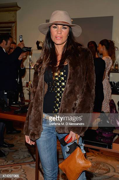 Antonella Mosetti attends the Le Silla Fall/Winter 201415 Collection Presentation as part of Milan Fashion Week Womenswear Autumn/Winter 2014 on...