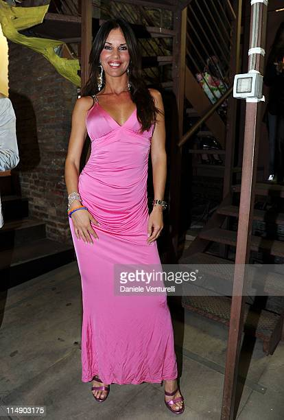 Antonella Mosetti attends the Wind Music Awards Backstage at the Arena of Verona on May 27 2011 in Verona Italy