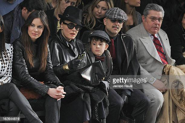 Antonella Mosetti Roberta Murr and Antonio Murr attend the John Richmond fashion show as part of Milan Fashion Week Womenswear Fall/Winter 2013/14 on...