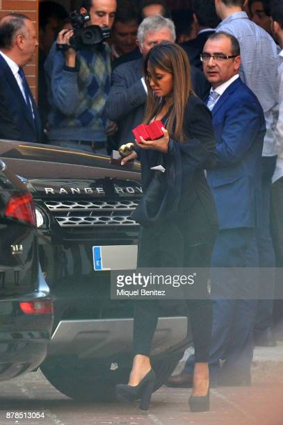 Antonella Roccuzzo attends the Golden Boot Gala 2017 at the L'Antiga Fabrica Damm on November 24 2017 in Barcelona Spain