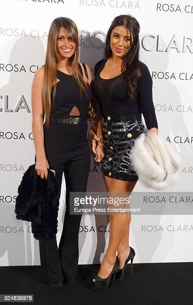 Antonella Rocuzzo and Daniela Samaan pose during a photocall for Rosa Clara's bridal fashion show during 'Barcelona Bridal Fashion Week 2016' on...