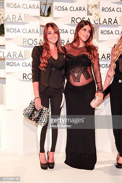 Antonella Rocuzzo and Daniella Semaan attend the Rosa Clara fashion show during 'Barcelona Bridal Week 2015' on May 5 2015 in Barcelona Spain