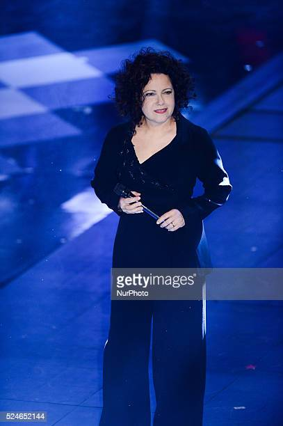 Antonella Ruggiero attend closing night of the 64rd Sanremo Song Festival at the Ariston Theatre on February 22 2014 in Sanremo Italy