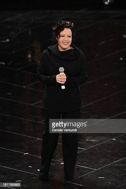 Antonella Ruggiero attend the fourth night of the 63rd Sanremo Song Festival at the Ariston Theatre on February 15 2013 in Sanremo Italy