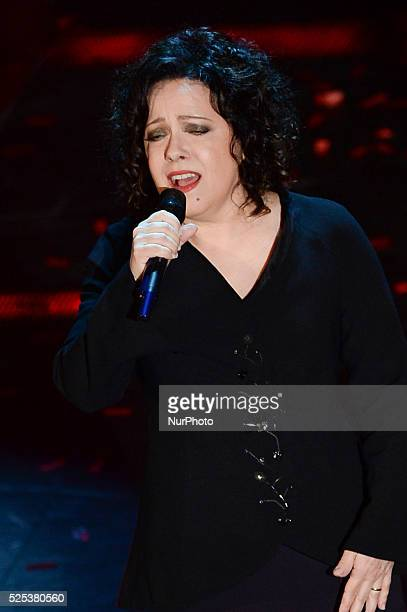 Antonella Ruggiero attend the opening night of the 64rd Sanremo Song Festival at the Ariston Theatre on February 18 2014 in Sanremo Italy