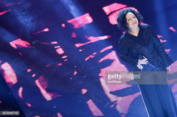 Antonella Ruggiero attend the third night of the 64rd Sanremo Song Festival at the Ariston Theatre on February 20 2014 in Sanremo Italy