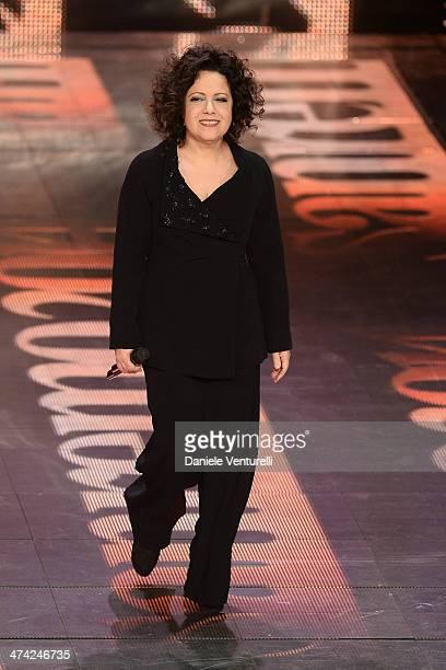 Antonella Ruggiero attends closing night of the 64th Festival di Sanremo 2014 at Teatro Ariston on February 22 2014 in Sanremo Italy