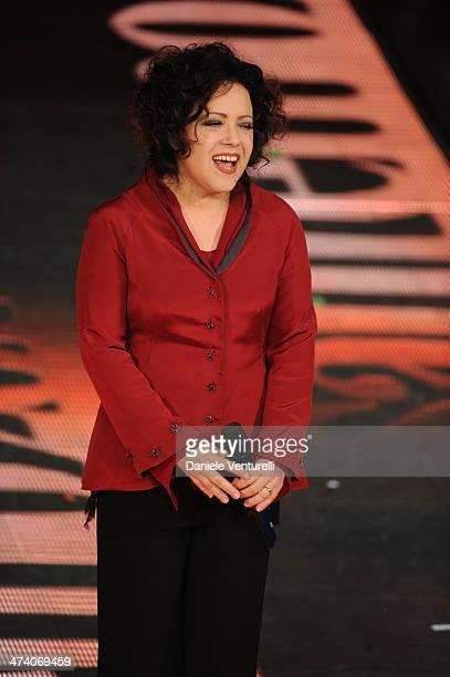 Antonella Ruggiero attends fourth night of the 64th Festival di Sanremo 2014 at Teatro Ariston on February 21 2014 in Sanremo Italy