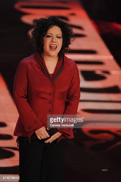 Antonella Ruggiero attends the fourth night of the 64th Festival di Sanremo 2014 at Teatro Ariston on February 21 2014 in Sanremo Italy