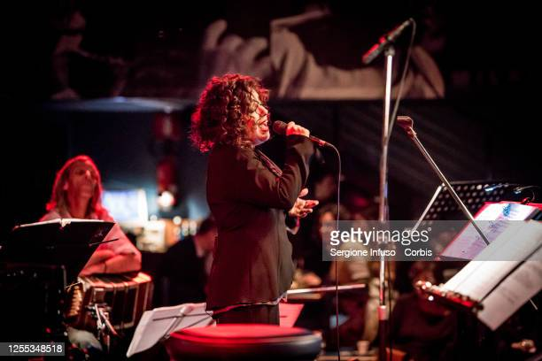 Antonella Ruggiero performs at Blue Note on January 29 2014 in Milan Italy