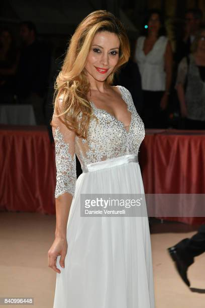 Antonella Salvucci arrives at the dinner after the Opening Ceremony during the 74th Venice Film Festival at Excelsior Hotel on August 30 2017 in...