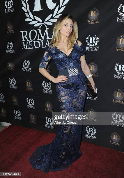 Antonella Salvucci arrives for Roman Media's 5th Annual Hollywood Event A Celebration of Women and Diversity in Film held at St Felix on February 18...