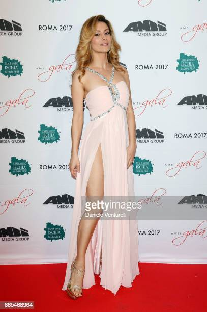 Antonella Salvucci attends AMBI GALA In Honour Of at Hotel Exedra on April 6 2017 in Rome Italy