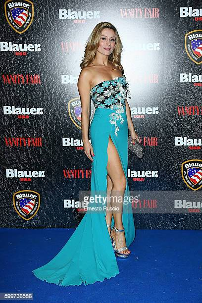 Antonella Salvucci attends the Cinema Under The Skin' Party hosted by Blauer and Vanity Fair during the 73rd Venice Film Festival at on September 6...