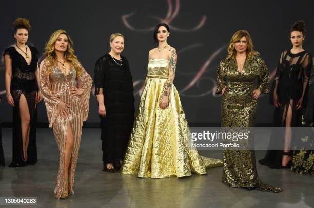 Antonella Salvucci, Eleonora Lastrucci, Jessica Antonini and Debora Caprioglio at presentation of the new collection of the designer Eleonora...