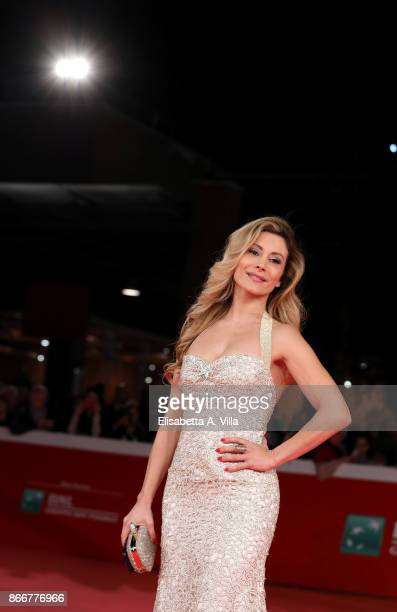 Antonella Salvucci walks a red carpet for Hostiles during the 12th Rome Film Fest at Auditorium Parco Della Musica on October 26 2017 in Rome Italy