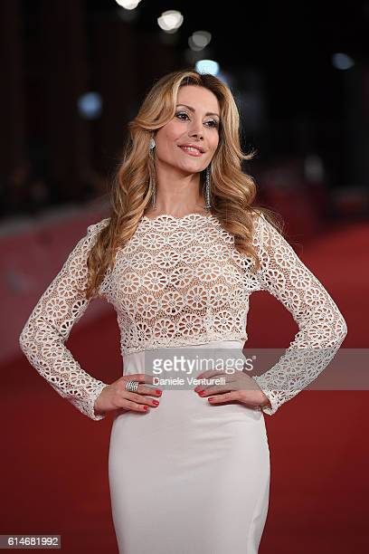 Antonella Salvucci walks a red carpet for 'Snowden' And 'Powidoki Afterimage' during the 11th Rome Film Festival at Auditorium Parco Della Musica on...