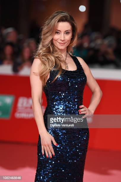 Antonella Salvucci walks the red carpet ahead of the 'Bad Times At The El Royale ' screening during the 13th Rome Film Fest at Auditorium Parco Della...