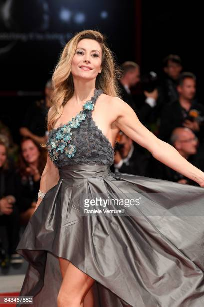 Antonella Salvucci walks the red carpet ahead of the 'Loving Pablo' screening during the 74th Venice Film Festival at Sala Grande on September 6 2017...
