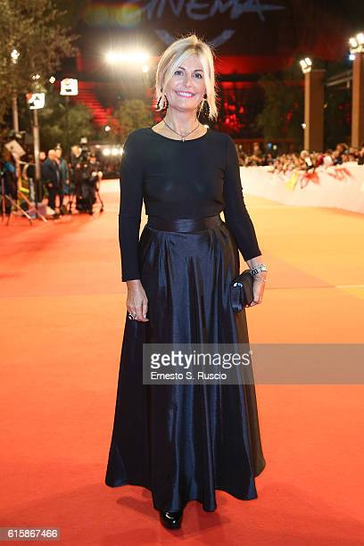 Antonella Splendore walks a red carpet for 'Florence Foster Jenkins' during the 11th Rome Film Festival at Auditorium Parco Della Musica on October...