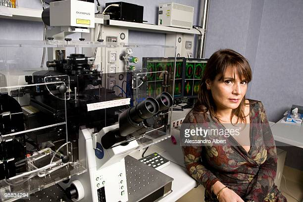 Antonella Viola poses for a portrait session in Humanitas Hospital Viola try understanding how to help lymphocytes to fight cancer or viruses on...
