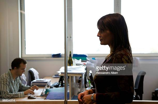 Antonella Viola poses for a portrait session in Humanitas Hospital, Viola try understanding how to help lymphocytes to fight cancer or viruses on...
