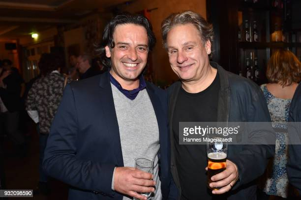 Antonello di Meo and his husband Andi Niessner during the NdF after work press cocktail at Parkcafe on March 14 2018 in Munich Germany