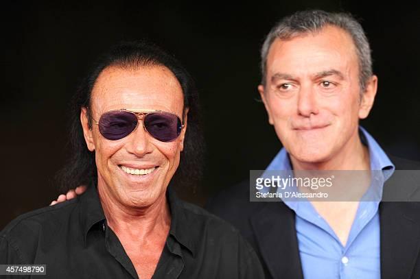 Antonello Venditti and Antonello Sarno attend the 'Giulio Cesare Compagni di scuola' Red Carpet during the 9th Rome Film Festival on October 19 2014...
