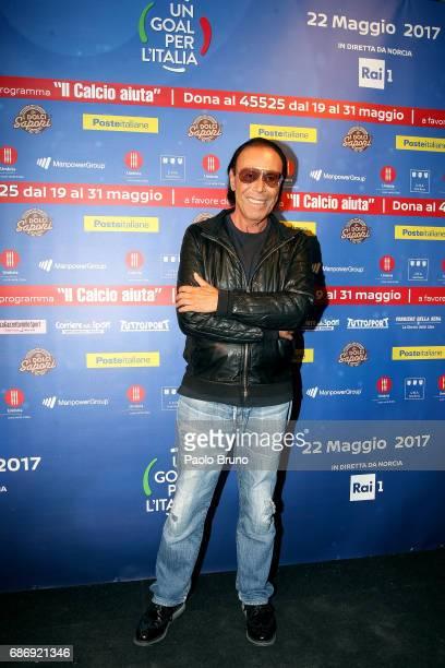 Antonello Venditti attends 'Un Goal per l'Italia' Event on May 22 2017 in Norcia Italy