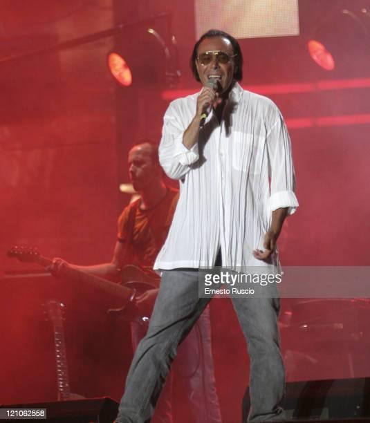Antonello Venditti during LIVE 8 Rome Show at Circus Maximus in Rome Italy