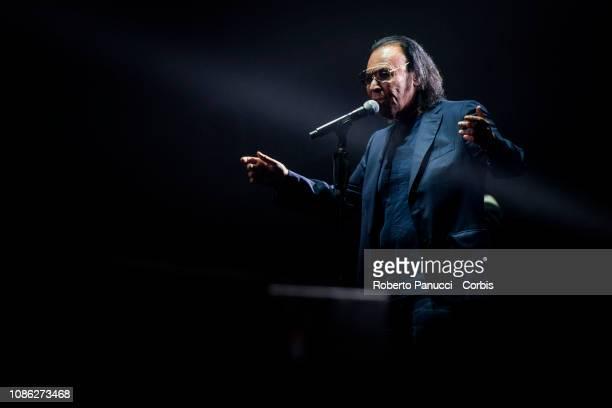 Antonello Venditti performs on stage at Palazzo dello Sport on December 21 2018 in Rome Italy