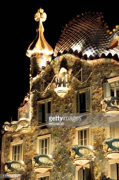 Antoni Gaudi's Casa Batllo building, UNESCO World Heritage Site, Barcelona, Catalonia, Spain, Europe.