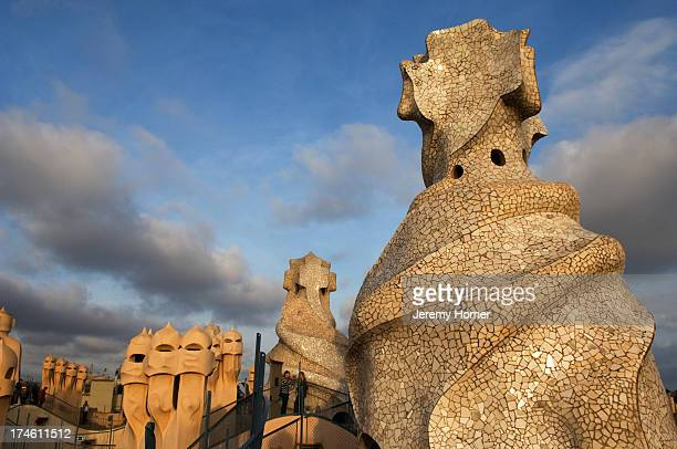 Antoni Gaudi's La Pedrera or Casa Milo