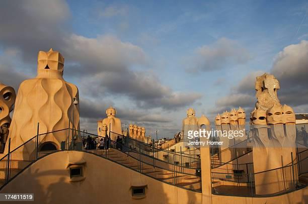 Antoni Gaudi's 'La Pedrera' or Casa Milo