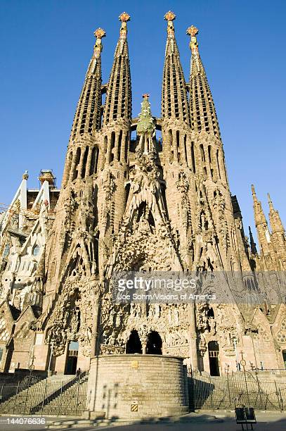 Antoni Gaudi's Sagrada Familia or the Temple Expiatori de la Sagrada Familia was begun in 1882 Barcelona Spain