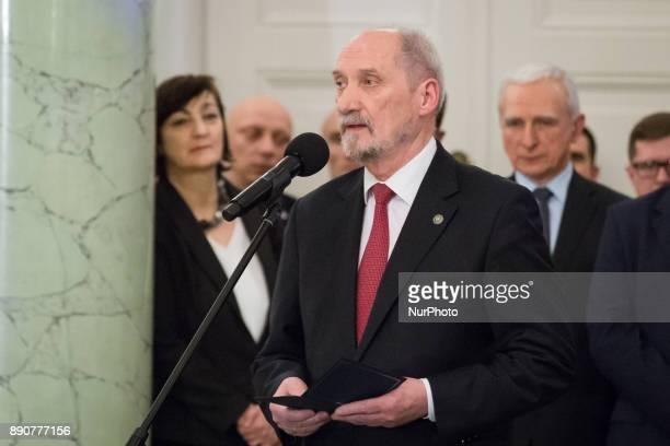 Antoni Macierewicz during the new Polish Government appointment ceremony in Presidential Palace in Warsaw Poland on 11 December 2017