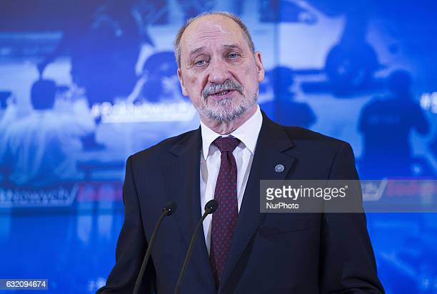 Antoni Macierewicz Polish Minister of National Defence on press conference about security in Poland, 18 January, Warsaw