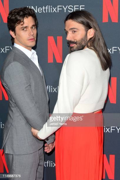 Antoni Porowski and Jonathan Van Ness attend FYC Event of Netflix's 'Queer Eye' at Raleigh Studios on May 16 2019 in Los Angeles California