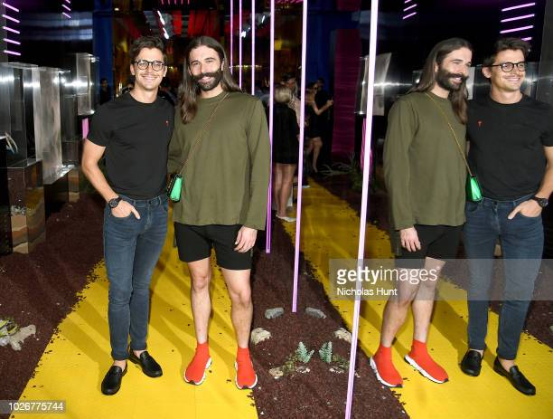 Antoni Porowski and Jonathan Van Ness of Netflix's Queer Eye attend A Human Launch Event hosted by Simon Huck on September 4 2018 in New York City