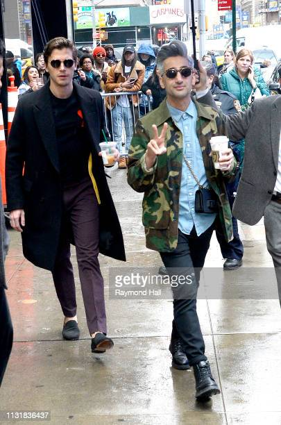 Antoni Porowski and Tanweer Wasin are seen outside Good Morning America on March 21 2019 in New York City