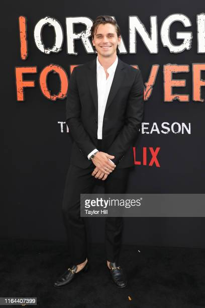 "Antoni Porowski attends the ""Orange is the New Black"" final season world premiere at Alice Tully Hall, Lincoln Center on July 25, 2019 in New York..."