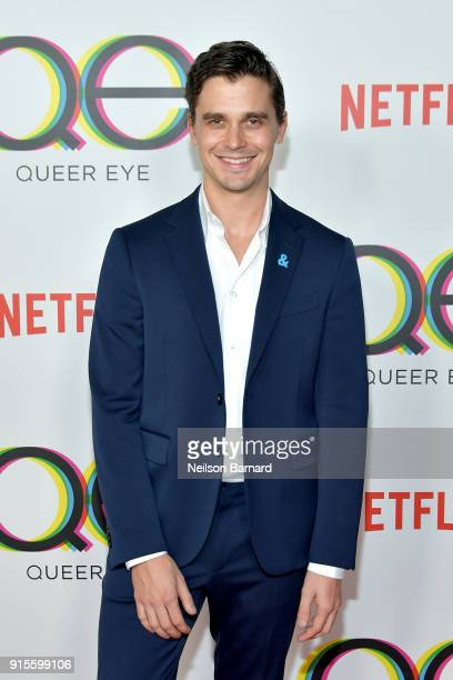Antoni Porowski attends the premiere of Netflix's Queer Eye Season 1 at Pacific Design Center on February 7 2018 in West Hollywood California