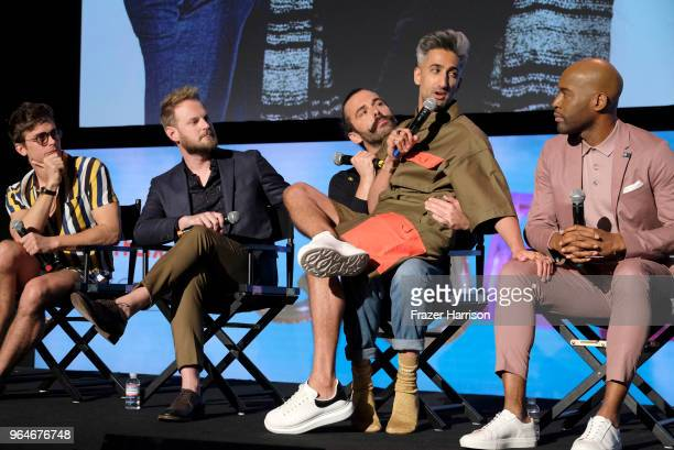 Antoni Porowski Bobby Berk Jonathan Van NessTan FranceKaramo Brown on stage at the #NETFLIXFYSEE Event For 'Queer Eye' at Netflix FYSEE At Raleigh...